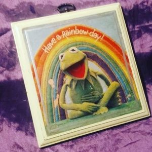 Vintage Hallmark Have a rainbow day Kermit sign